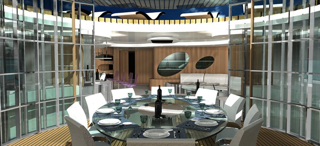 Yacht Disco Volante Living Room